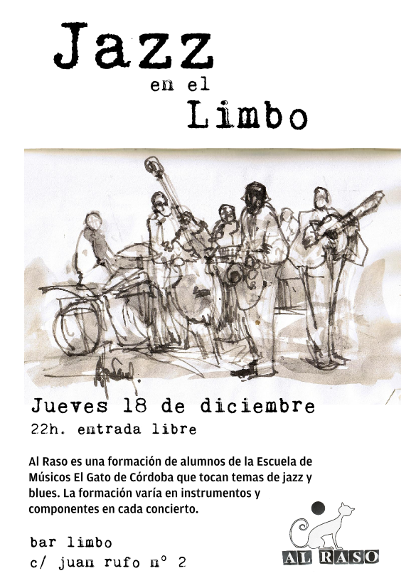 Cartel concierto Al Raso en el Limbo