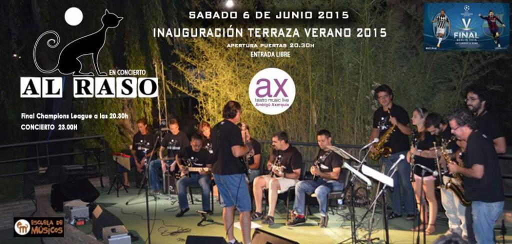 Cartel concierto de Al Raso en la Sala Ambigú Axerquía