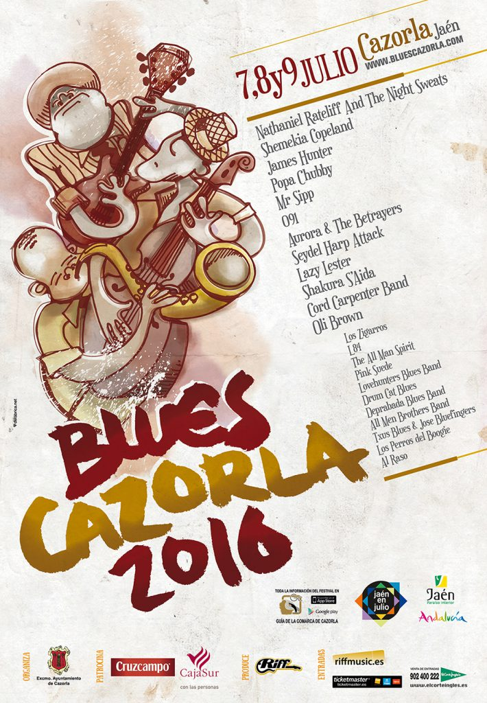 Cartel del Festival de Blues de Cazorla 2016