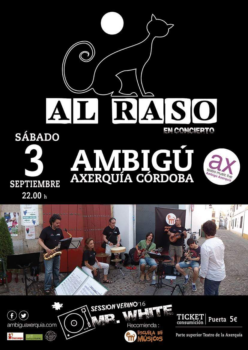 Cartel concierto en Ambigú Axerquía