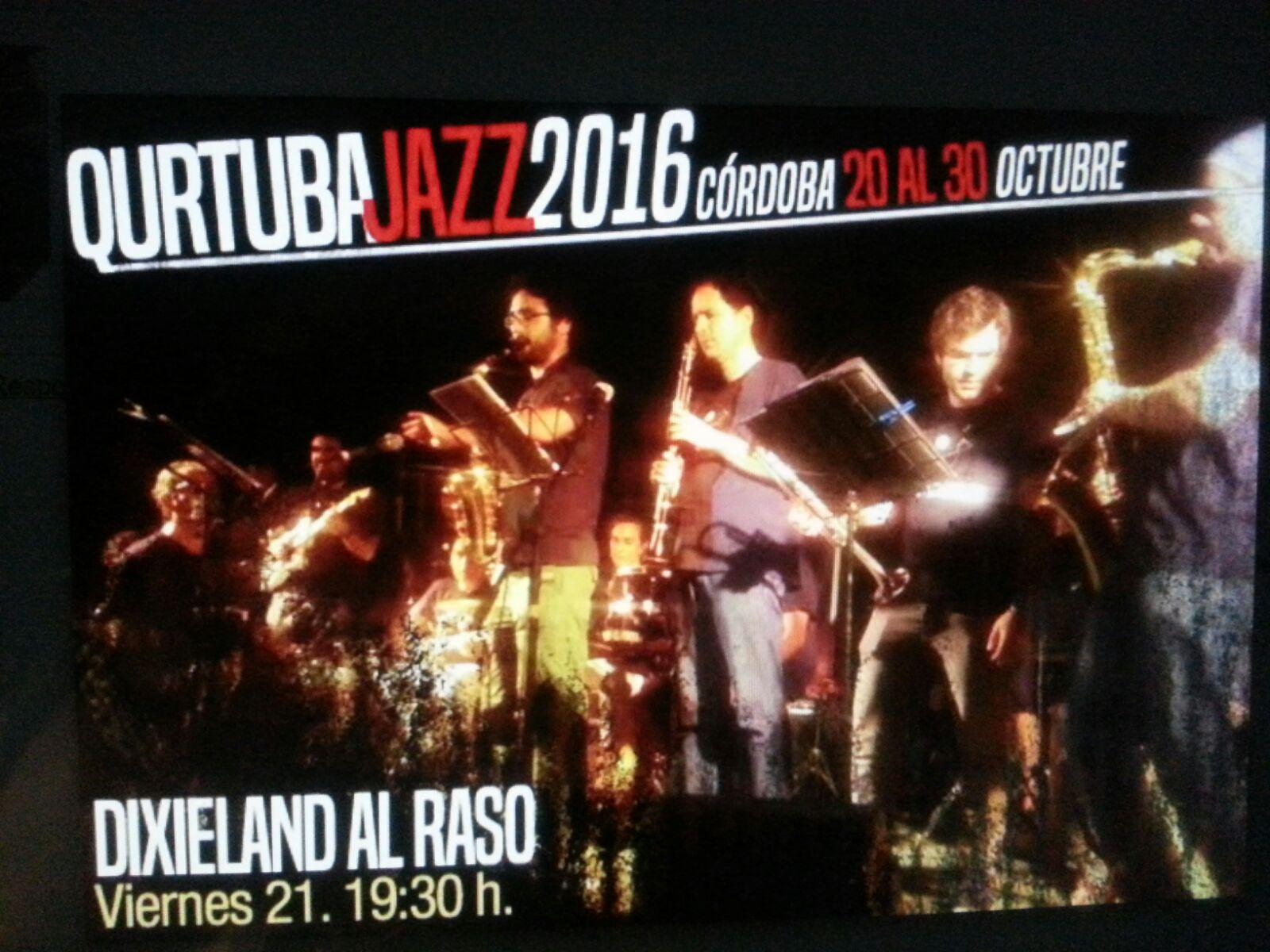 Cartel Qurtuba Jazz 2016. Dixieland Al Raso. Viernes 21 a las 19:30h