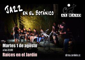 Cartel concierto en el Jardín Botánico
